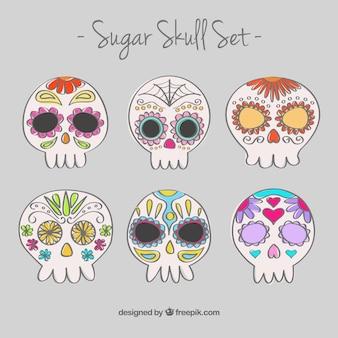 Ручной обращается сахара черепа установить
