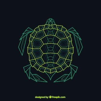 抽象的な幾何学的なカメ