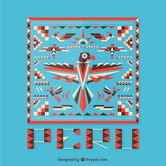 幾何学的なペルーの背景
