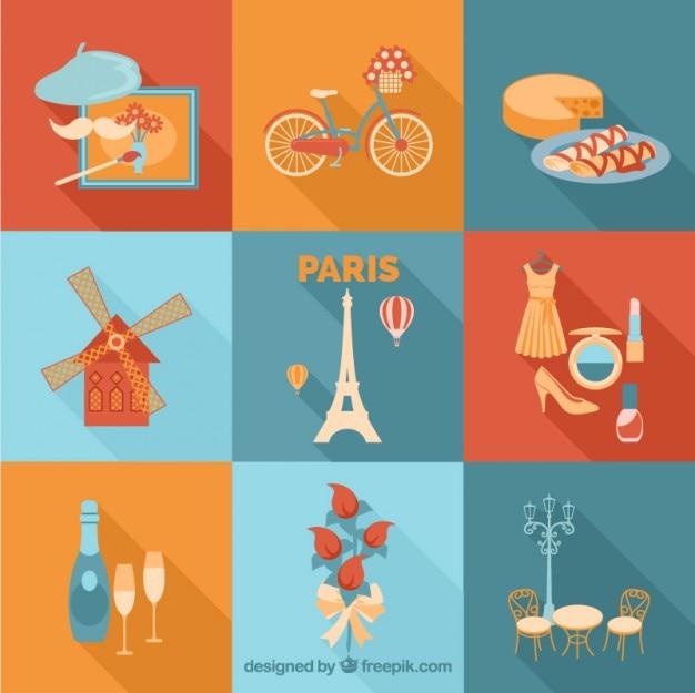 Коллекция парижские элементы