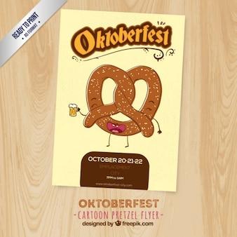 Забавный плакат октоберфест
