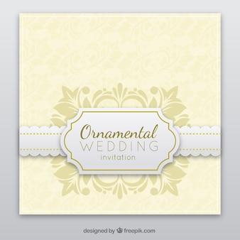 ドイリー結婚式の招待状