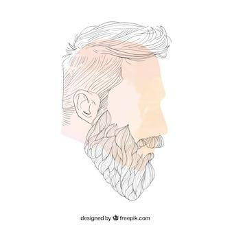 Прическа человека