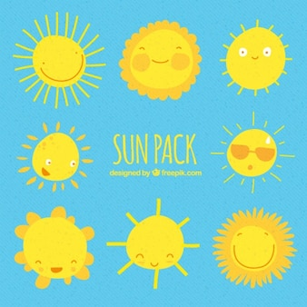 表情豊かな太陽のコレクション