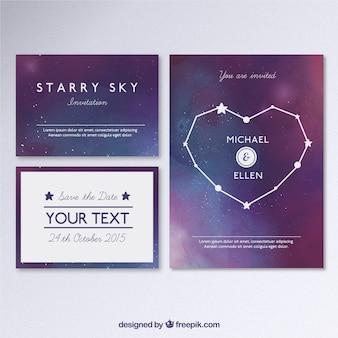 Галактическая свадебные приглашения