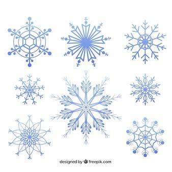 Геометрические снежинки пакет