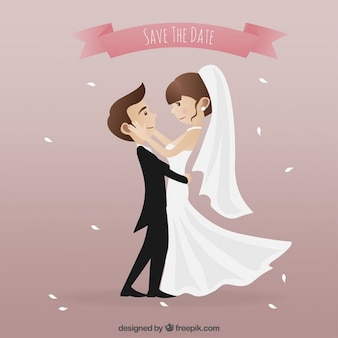 ピンク結婚式の招待状