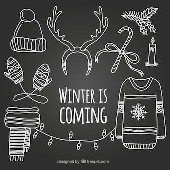 冬はイラストが来ています