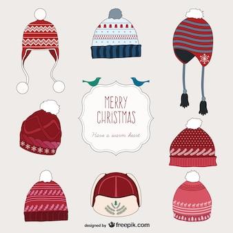 Коллекция рождественских шляпы