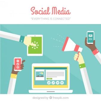 ソーシャルメディアは、すべてが接続されています