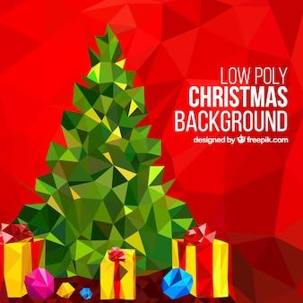 低ポリクリスマスの背景