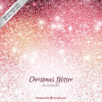 グリッタースタイルでクリスマスの背景