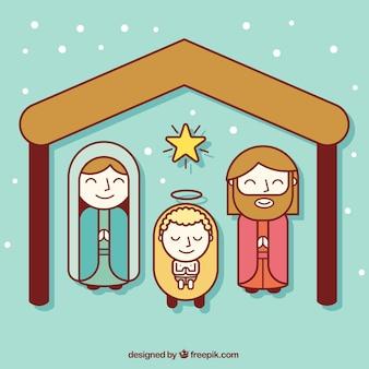 キリスト降誕フラットアイコン