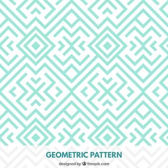 幾何学ターコイズパターン