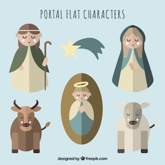 Рождество плоские персонажи