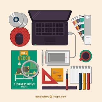 グラフィックデザインフラットコレクション