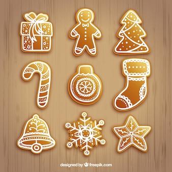 ゴールデンクリスマスの要素コレクション
