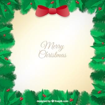 ヤドリギのクリスマスフレーム