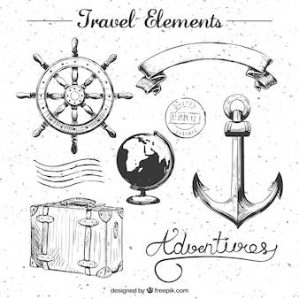 Путешествия элементы коллекции