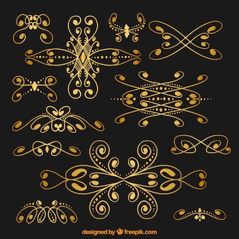 Золотой цветочный орнамент коллекции
