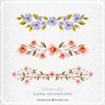 Акварель цветочный коллекция