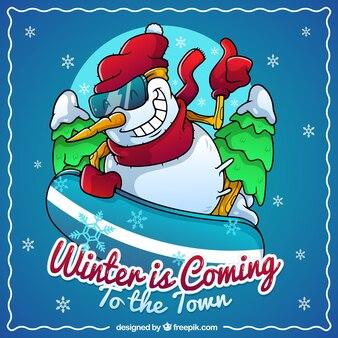 冬は町にやってくる