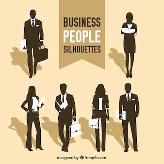 ビジネス人々のシルエット