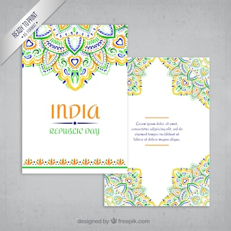 装飾インドのグリーティングカード