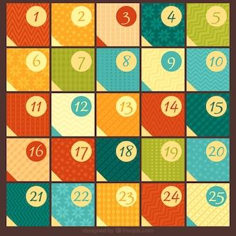 幾何クリスマスアドベントカレンダー