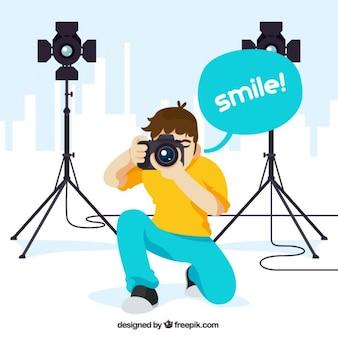 プロカメラマンのイラスト
