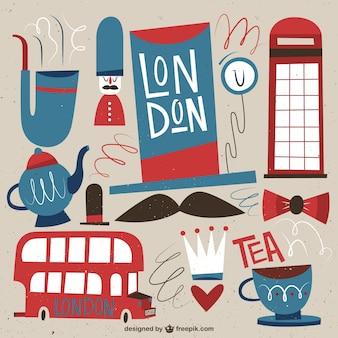 ロンドンの文化のイラスト