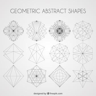 幾何学的抽象的な形はパック