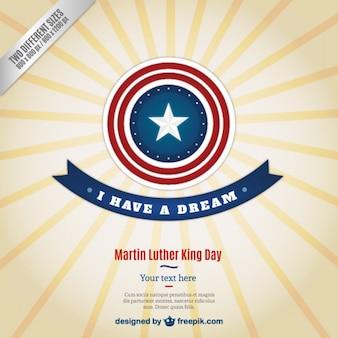 スターバーストスタイルでマーティン・ルーサー・キングの日の背景