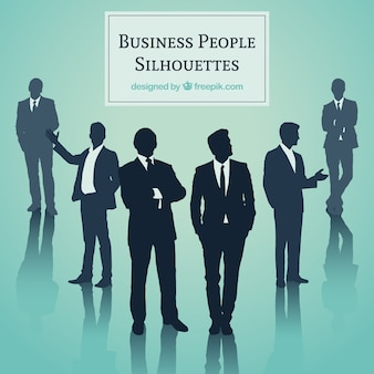 ビジネスの人々のシルエット