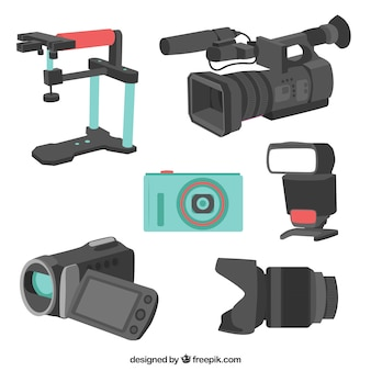 カメラ機器のバラエティ