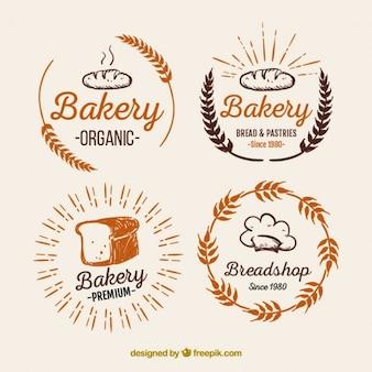Хлебобулочные логотипы пакет