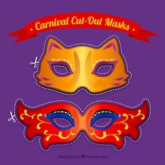 カーニバル、マスクをカット