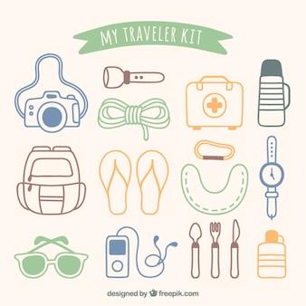 私の旅行者キット