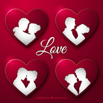 心の内側に恋にカップル