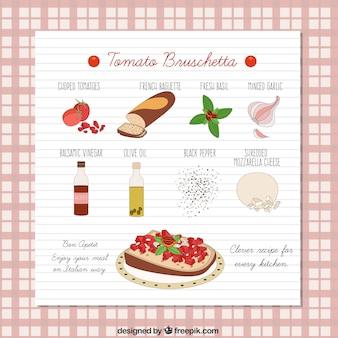 トマトブルスケッタレシピ