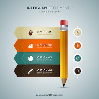 インフォグラフィック鉛筆
