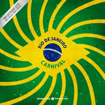 フラットなデザインのストライプブラジルの国旗の背景