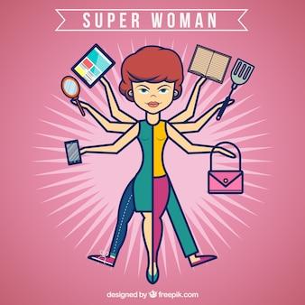 スーパーの女性ラインのスタイル