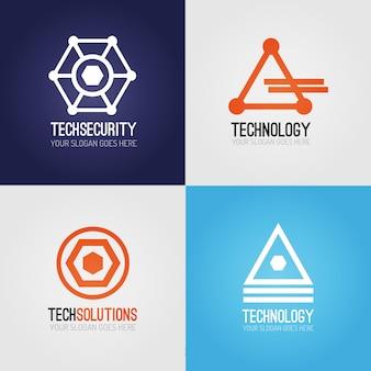 テクノロジーのロゴパック
