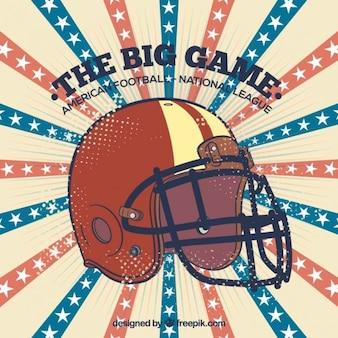 レトロなアメリカンフットボールのヘルメットの背景