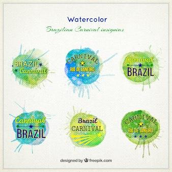 Акварельные бразильский карнавал знаки различия