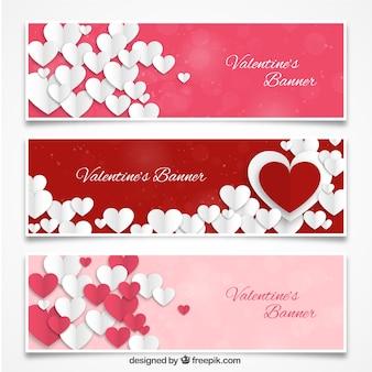 Валентина сердечки баннеры пакет