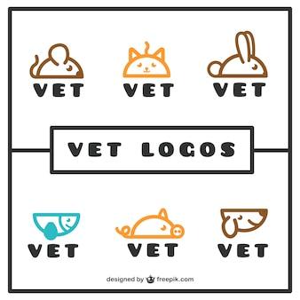 直系の獣医のロゴパック