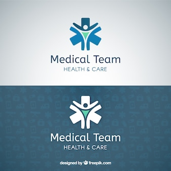 Медицинская команда логотип шаблон