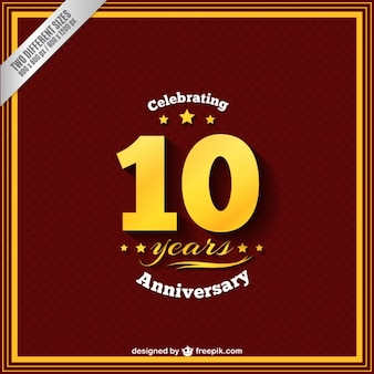 Празднование годовщины десять лет